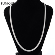 FUNIQUE Silver Tone Necklace Stainless Steel Snake Chain Necklace Soft Flat Women & Men Necklace Jewelry Gifts 50cm Long(China)