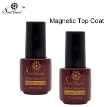 Saviland 3D Color Change Cat's Eye Top Coat Gel Polish Soak Off Nails Art Long-lasting UV Gel Magnetic Cat Eye Coating