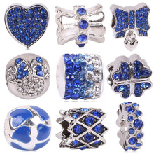 AIFEILI New Arrival Silver Color Eye Of Evil Charm Bead With Blue CZ Fit Original Pandora Bracelet Fashion Jewelry Gift(China)
