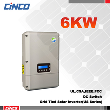 SolarRiver6000TLA-US, Grid tied inverter 5KW 208V/240V 60HZ, Doubel MPPT for solar power system for Brazil market