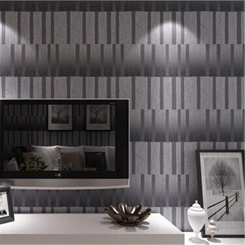 beibehang woven Embossed Wallpaper 3D wall paper modern style wallcovering Geometric striped Wallpaper roll for home  paper<br>