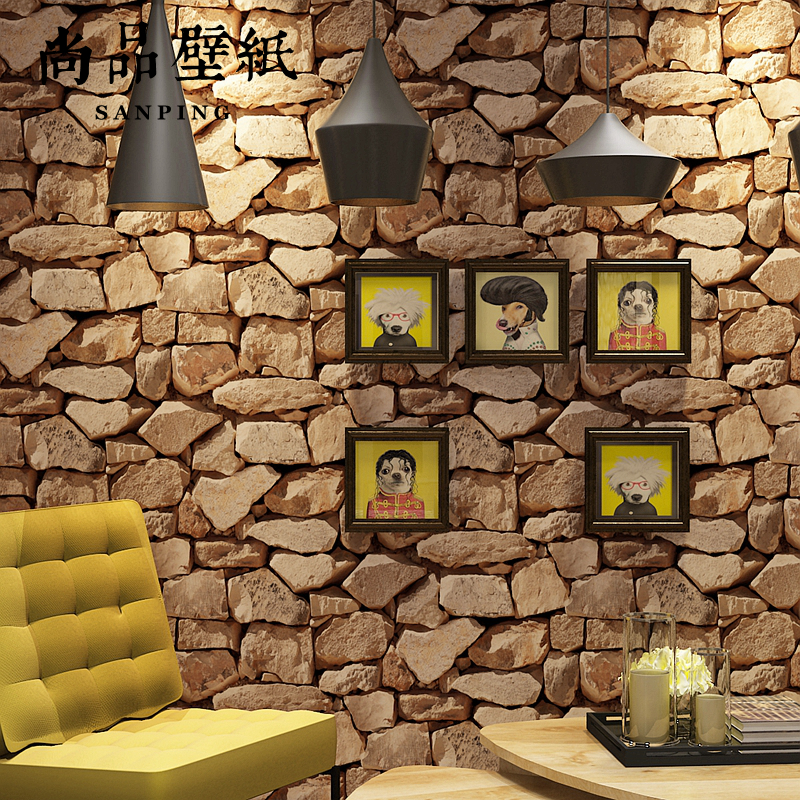 Chinese style retro style stone marble grain wall paper TV sofa backdrop living room bar coffee shop brick wallpapers bedroom<br>