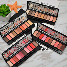 10 Nudes Colours Eye Shadows Makeup Shimmer Matte Pearl Eyeshadow Palette