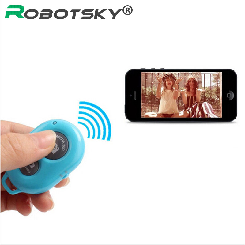 2PCS Wireless Bluetooth Camera Remote Control Selftimer Shutter iPhone GREEN