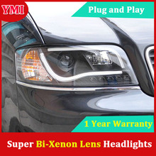 YMI Styling for Audi A6 LED Headlight 1997-2004 Headlights Bi Xenon Head Lamp LED DRL Car Front Lights(China)