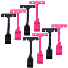 8pcs POP Adjustable Plastic Clip-on Style Merchandise Sign Display Clip Holder