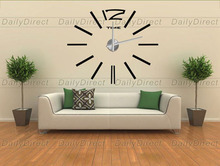1x Luxury Adhesive Modern 3D Frameless Large DIY Sticker Wall Clock Room decor Strip Home decor 12S003 MAX3 Brand
