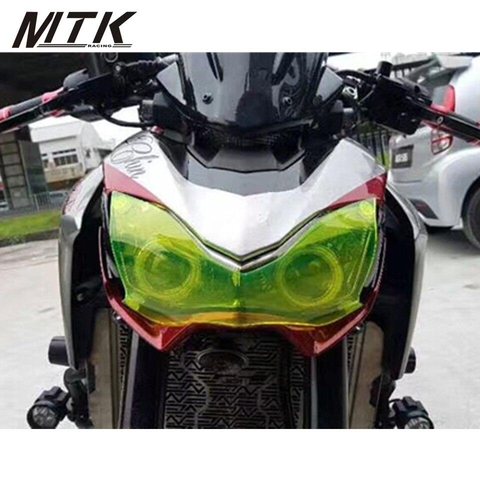 MTKRACING Motorbikes Z 900 Accessoris Acrylic Headlight Protector Cover Screen Lens For KAWASAKI Z900 2017<br>