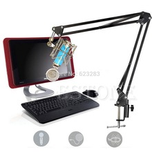 1 PC Mic Microphone Stand Suspension Boom Scissor Arm Holder For Studio Broadcast PN