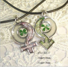 Lot Free Shipping 10 PCS wholesale yqtdmy jewelry real four leaf clover jewelry necklace charm pendant(China)