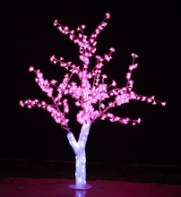 Free ship 5ft 1.5M LED Christmas New year party holiday LED Light Crystal Cherry Blossom Tree Pink Color waterproof home garden(China)