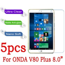 "For Onda V80 plus Dual OS 8"" Tablet PC Screen Protector Clear Nano Explosion-proof Protective Film (Not Tempered Glass)(China)"