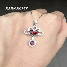 KJJEAXCMY boutique jewelry,Garnet natural rose gold female pendant necklace wholesale, S925 silver custom special price(China)