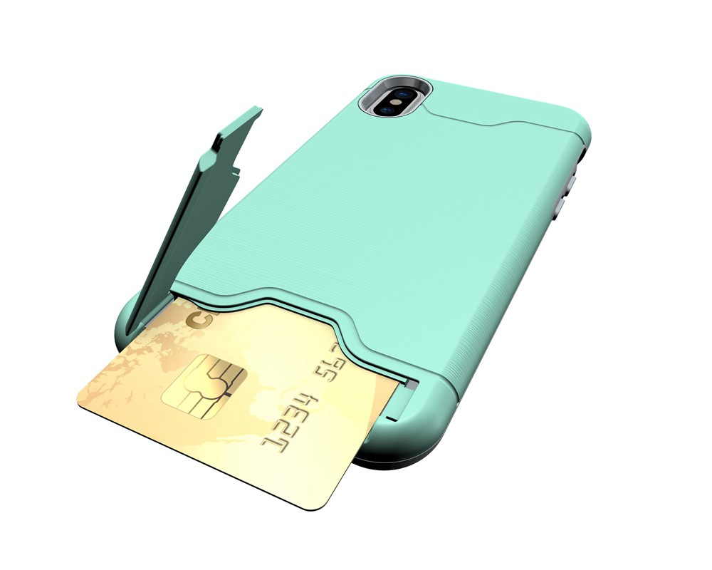 KEYSION Case For iphone X Shockproof cover for iPhone X Kickstand Armor Phone Bag Cases For iphone 10 Card Holder Coque 16