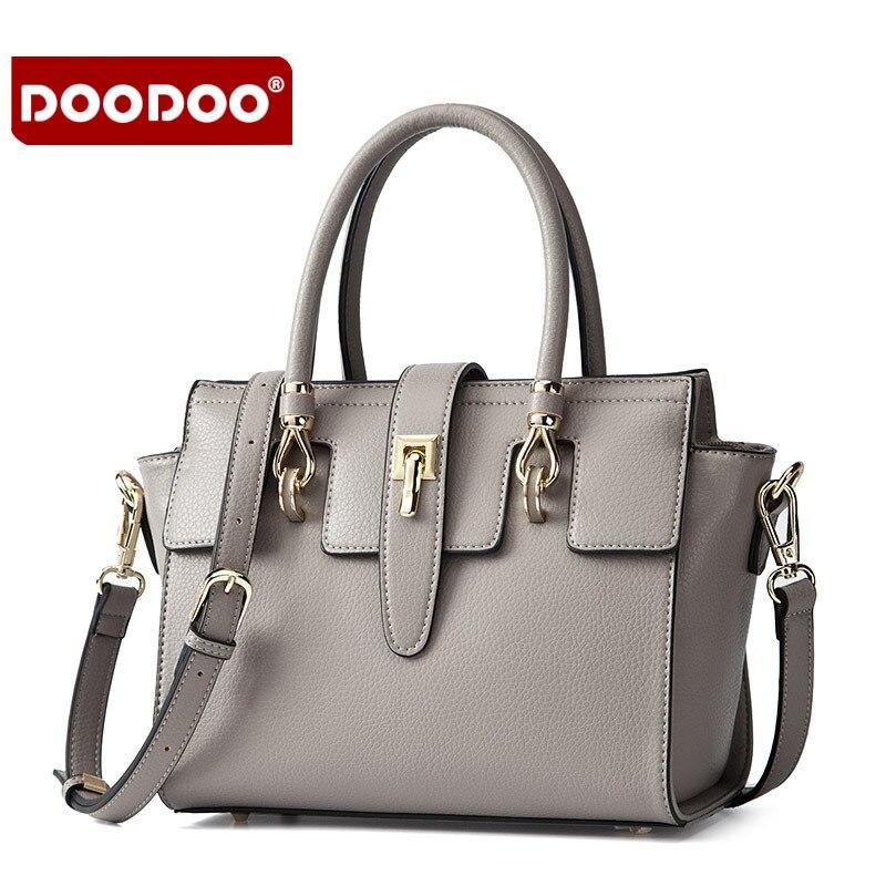 DooDoo brand leisure ladies handbag Zipper Buckle  Messenger bag ladies fashion Women Handbags Of Famous Brands crossbody bags<br>