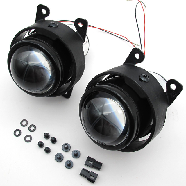 Car 2.5 inch Bi Xenon Projector Lens Kit H11 Crystal Clear foglights For Mitsubishi ASX Grandis Pajero V97 v87 Outland Fog lamp<br>