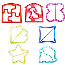 Best Quality 7 Shaps Dinosaur Dog Butterfly Shape Sandwich Bread Cutter Mold Cake Tools Cake Toast Moulds Cake Maker