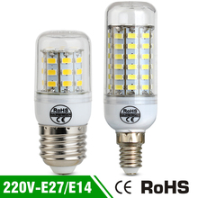 Corn Led Bulb E27 Led Bulb lamp Replace Fluorescent Light SMD 5730 24 38 48 56 69 LEDs Spotlight 220V Corn Lamp Bulb Light E14