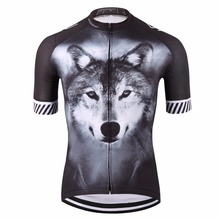 2017 wolf pro cyclist jersey/sports original summer men bike clothing/novelty unisex plus size 3D printed cycling clothes(China)