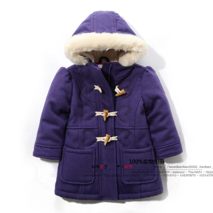 new 2014 Autumn winter jackets childrens clothing fashion girls overcoat baby medium-long outerwear kids all-match wool coats<br>