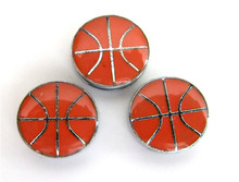 10pcs 8mm Enamel Basketball Slider Slide Charms Fit Pet Dog Cat Tag Collar Wristband ZC005