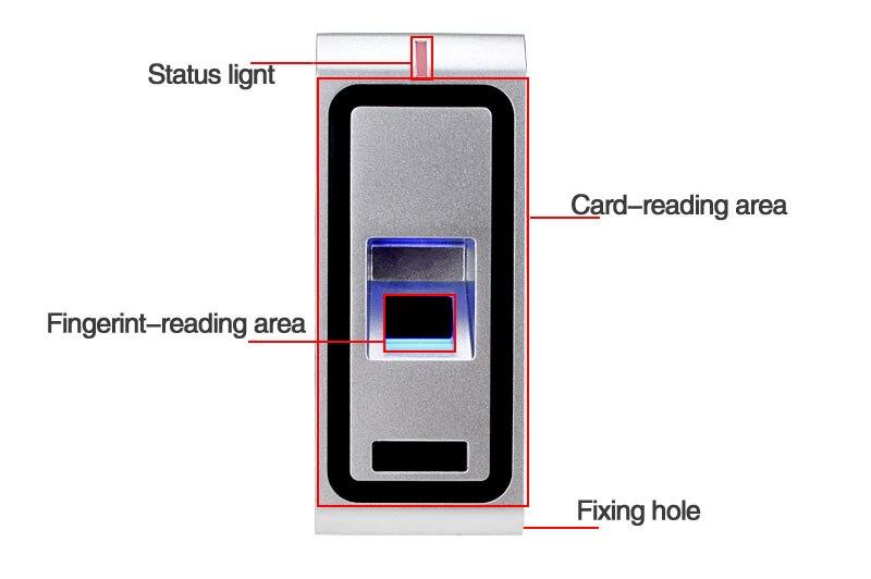 F2 Metal fingerprint standalone access controller (4)