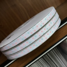 Crazy Discount 3/8'' 9mm Blue Pink Lovely Spots Dots Printed Grosgrain Ribbon for Garden/Home/Party/Tree Decoration,100 Yards