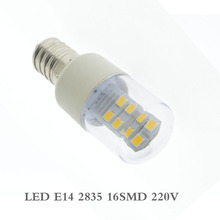 High Bright E14 Screw Base 2835/3014 SMD 24 LED Glass Shade Light Lamp Bulb Pure Warm White 220V For Sewing Machine Refrigerator