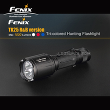 New Arrival Fenix TK25 R&B Max 1000 Lumens Tri-colored Hunting Flashlight for Most Tactical Demands