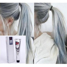 100ml Hair Color Cream Light Gray Hair Cream Color Permanent Easy Temporary DIY Super Dye Hair Cream For Men Women