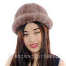 CX-C-197A Handmade Chinese Cheap Ladies Genuine Mink Fur Winter Hat