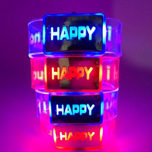 Hot Creative Electric Light Up Luminous Happy Bracelet Children Watch Novelty Toys Christmas Party Accessories Birthday Gifts(China)