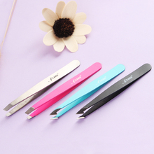 Eyebrow Tweezers Beauty-Tool Black Harmless Hair-Removal Makeup Slanted Stainless-Steel