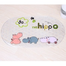 Baby Kids Child Cartoon Anti-slip PVC Bath Mat Bathroom Safety Non-slip Suction Cups Carpet Shower Bathmat Bathtub Sucker Rug(China)