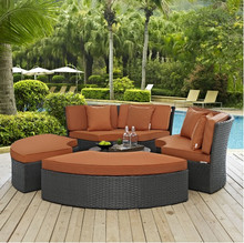 2017 Factory direct sale Sectional Sofa Furniture Wicker 4 Piece Outdoor Daybed Set