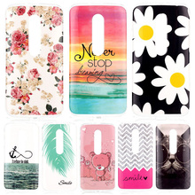 For Motorola Moto G3 G 3rd Gen 3 5'' Cartoon Painting Soft TPU Silicone Back Cover Skin Phone Bags Shell Protect Fundas Coque