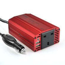 BESTEK 300W Car Power Inverter 12V 220V Converter DC AC Invertor 12V To 220V 230V Adapter Car Charger Lighter Dual USB UK Plug(China)