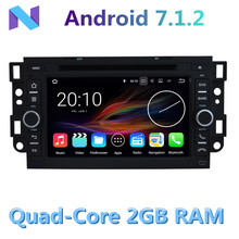 2GB RAM Android 7.1.2 Car DVD Player for Chevrolet Daewoo Matiz Epica Spark Optra Captiva Tosca Aveo Kalos Gentra GPS Radio BT