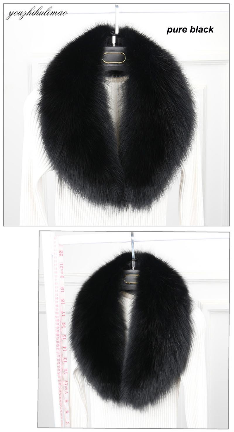 fox fur collar black