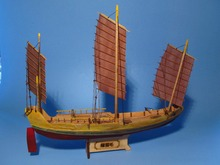 LOVE MODEL Free shipping Scale 1/148 Wooden Sailboat Zheng he's Green eyebrows sailboat model kit