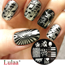 1 Round 10 Type PatternStamping Plate Flower  Starfish & Shell Negative Space Leaves Flowers Animals Nail Template Manicure Art