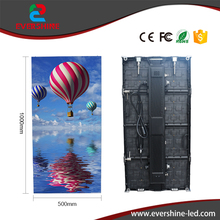 P4.81 led outdoor advertising display screen stage background video wall rental board 500x1000mm hd display(China)
