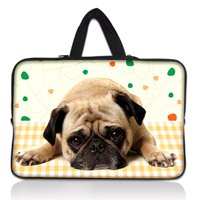 17 17.3 inch Cute Pug Soft Neoprene Laptop Netbook Sleeve Bag Case Pouch+ Hide Handle For 17.3 HP Pavilion G7 DV7 E17<br><br>Aliexpress