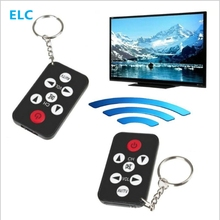 Mini Universal Infrared IR TV Remote Control Controller 7 Keys Button Keychain Key Ring Wireless Smart Remote Controller battery(China)