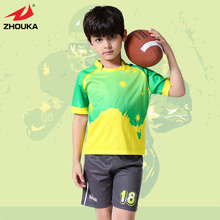 Hot sale High Quality Kids short sleeve Full sublimation Rugby jerseys