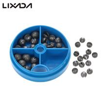 0.6/1/1.5/1.8g Round Split Shot Lead Weight Pesca Fishing Tackle Tool Accessories Lead Drop Black Fishing Sinker Kits With Box(China)