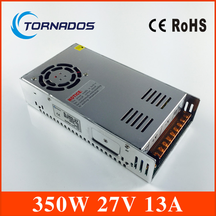 AC/DC 350W 27V 13A Single Output Switching power supply for Foaming,Mill Cut Laser Engraver,CE approved<br>