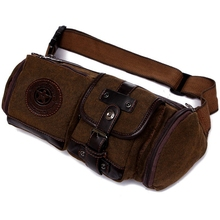 new fashion Waterproof canvas waist bag pillow Casual Travel men Bag motorcycle Fanny Waist Pack good quality
