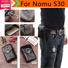 Genuine Leather Carry Belt Clip Pouch Waist Purse Case Cover for Nomu S30  Phone Bag /Cell phone Case Free  K3225
