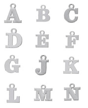 Skyrim Fashion Jewelry Making Findings Alphabet A/B/C/D/E/F/G/H/J/K/L/M/N Zinc Alloy Letters Charms DIY Necklace/Bracelet 20Pcs
